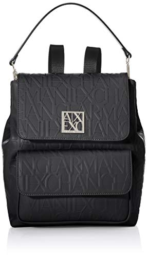 ARMANI EXCHANGE All Over Backpack, Zaino Donna, Black, One Size