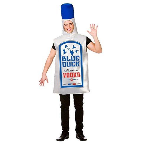 Bouteille de vodka Blue Duck - Adulte Halloween / Carnaval Costume Fantaisie Adulte - Taille unique