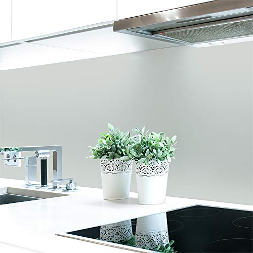 Küchenrückwand Grautöne 2 Unifarben Premium Hart-PVC 0,4 mm selbstklebend - Direkt auf die Fliesen, Größe:Materialprobe A4, Ral-Farben:Lichtgrau ~ RAL 7035