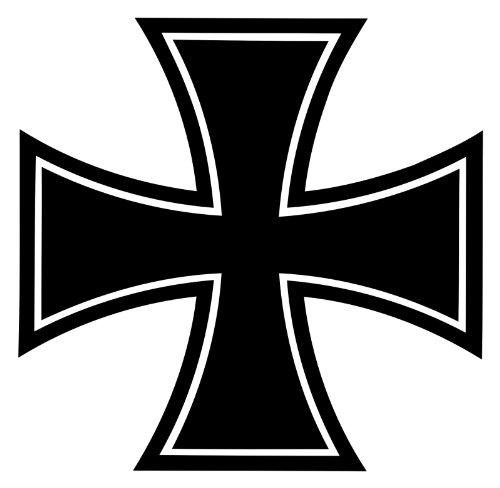 Dinger-Design Iron Cross Eisernes Kreuz Bundeswehr Logo 20 x 20 cm