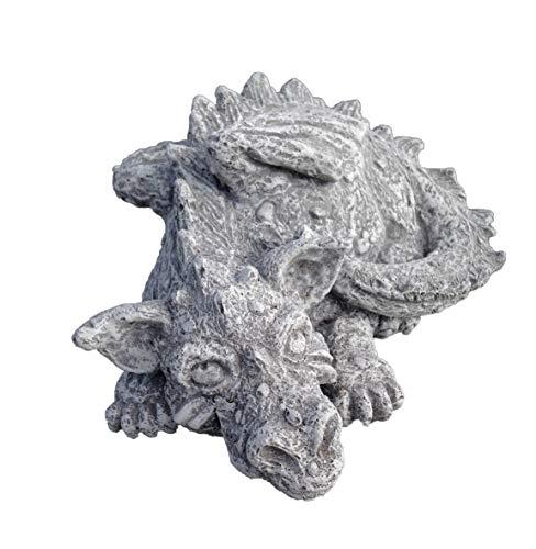 Steinfigur Drache Sweety, Frostfest bis -30°C, massiver Steinguss