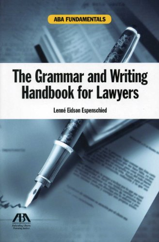 The Grammar and Writing Handbook for Lawyers (Aba Fundamentals)