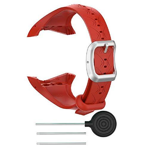 SKYSE Correa de silicona para reloj deportivo Polar GPS, unisex, con hebilla de acero inoxidable, compatible con Polar FT60/Polar V800/Polar Vantage V