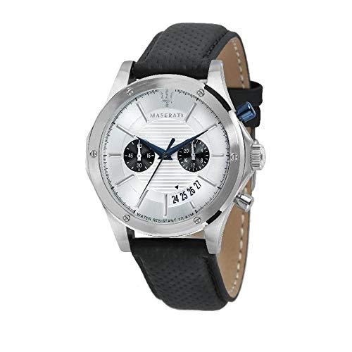 Orologio da uomo, Collezione CIRCUITO, in acciaio, cuoio - R8871627005