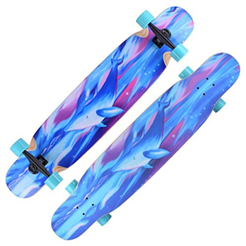 MKJYDM Skateboard Dance Board Boy and Girl Brush Street Trip patineta (Color : A)