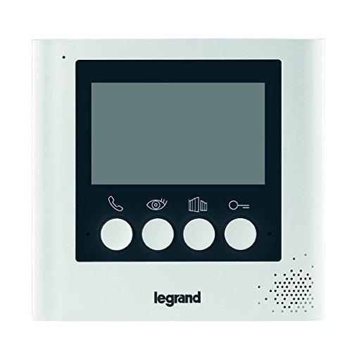 Legrand, Video-Innenstelle mit 4,3 Zoll Monitor zur Erweiterung des 4,3 Zoll Videokits (369110) zum 2-Familienhaus, 369115