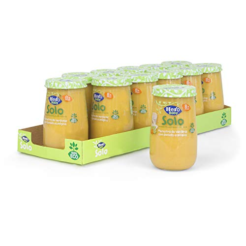 Hero Solo - Tarrito Eco de Menestra de Verduras y Dorada para Bebés - Pack de 12 x 190 g, Total: 2280 g