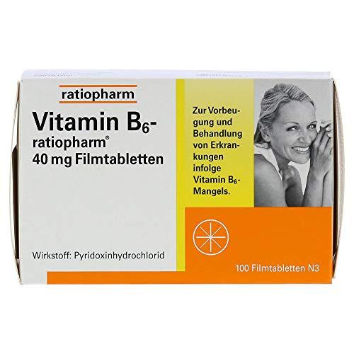 Vitamin B6 ratiopharm 40 mg Filmtabletten, 100 St