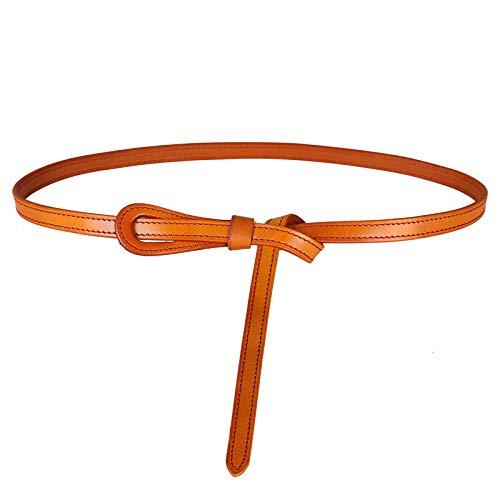 SENFEISM Cinturón de Mujer de Lujo Cinturones Finos de Cuero Genuino de Vaca Diseño de Moda Correa Mujer Original Samll