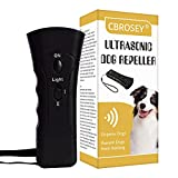 CBROSEY Dispositivo Antiladridos para Perros,Ahuyentador de Perros,Ultrasonidos Antiladridos para Perros,Herramienta de Dispositivo de Entrenamiento Anti ladridos de Perros