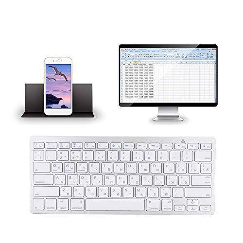 Teclado, Teclado Ruso, Teclado Ruso Ultrafino Multifuncional, Teclado Inalámbrico Bluetooth para iOS/Windows/Android, Teclado Inalámbrico