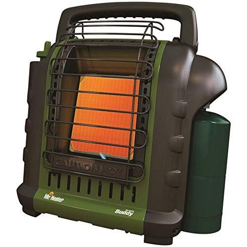 Mr. Heater F232010 MH9BX Buddy 4,000-9,000-BTU Indoor-Safe Portable Propane Radiant Heater (Green)