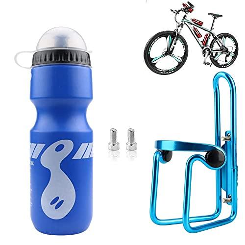 Portabidón de Bicicleta,MTB Portabidon Bicicleta,Portabidones para Bicicleta con Botella de Bicicleta,Portabidon de Agua para Bicicleta,Portabotellas para Bicicleta (Azul)