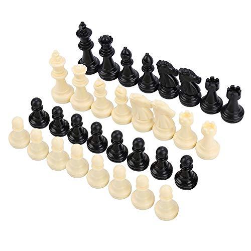 VGEBY 32 Stücke Schachfigur, Magnetische Internationale Schachfiguren Set Schachturnier Spiel Unterhaltung Werkzeug