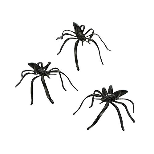 Fun Express - Plastic Spiders for Halloween - Toys - Character Toys -...