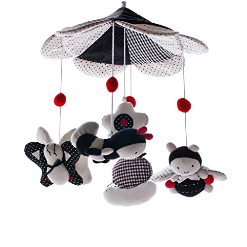 Check Out This MAJINCGJ Newborn Baby Toy Bed Bell Music Rotating Rattle 0-6 Months Baby Fabric Plush...