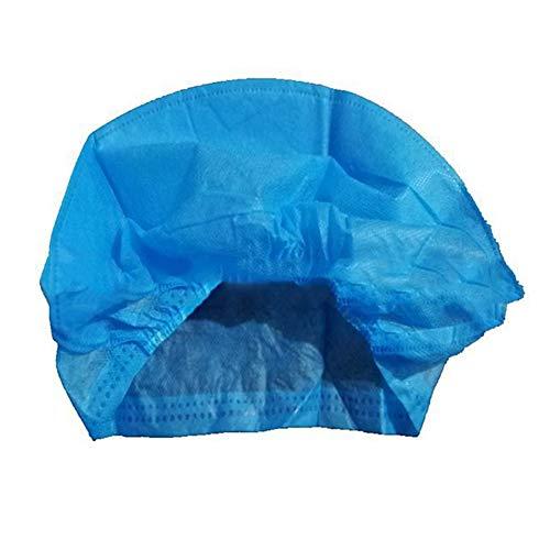 HELLOGIRL 20 Piezas Gorras Desechables Cubierta de la Cabeza del Cabello Sombrero no Tejido Gorra Antipolvo médica Cabello Hilado Limitado Azul