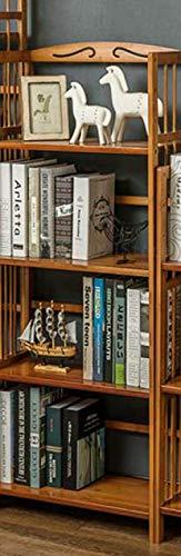 Boekenplank LKU Massief houten boekenrek elegante boekenstandaard staande woonkamer plank keuken opslag boekenplank, 4 lagen 80 lang