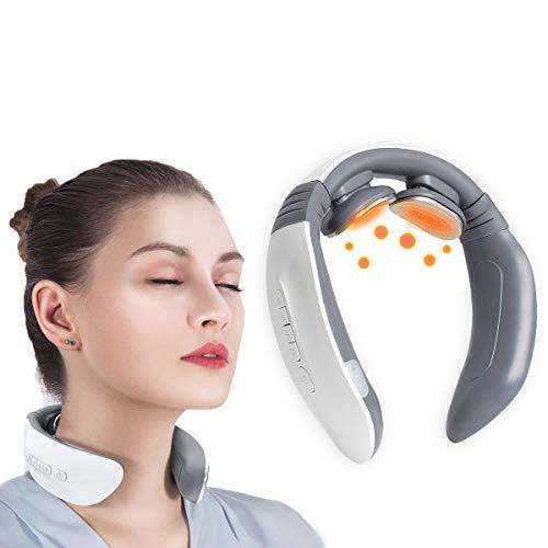 Massaggiatore cervicale,Massaggiatore per Collo,Massaggiatore per Collo Intelligente Elettromagnetico Multifunzionale Massaggiatore,Elettrico Cervicale allevia il dolor