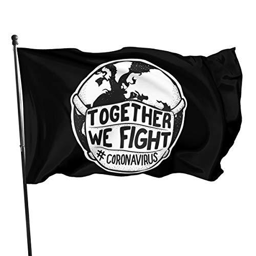 Mrscsefid Together to Fight Coronavirus Flag 3 X 5 Flag for Yard Decoration Banner