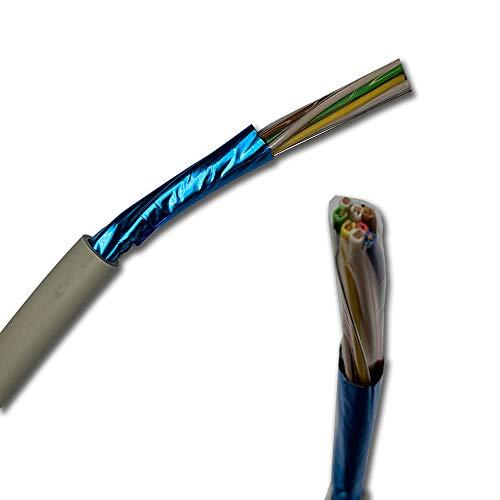 Fernmeldeleitung Telefonkabel ISDN Kabel J-Y(St) Y 4x2x0,8 mm geschirmt mit Beidraht - Meterware auf den Meter genau - Auswahl in 1 Meter Schritten (Meter/Längen siehe Bulletpoints)
