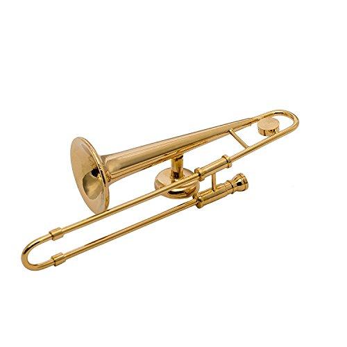 Gold Trombone Miniature Replica Magnet, Size 3 inch