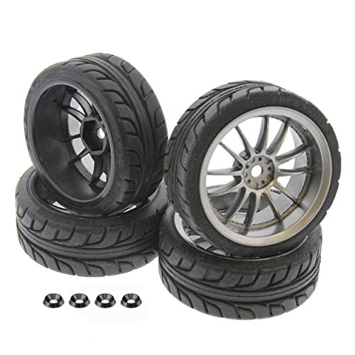 HPI 1/10 E10 Mustang T-Grip Tires & Work XSA 26mm Light Gunmetal Wheels