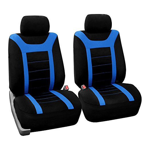 FH Group FB070102 Sports Seat Covers (Blue) Front Set – Universal Fit for Cars Trucks & SUVs