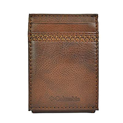 Columbia Men's RFID Security Blocking Slim Front Pocket Wallet, Brown Tabor, One Size