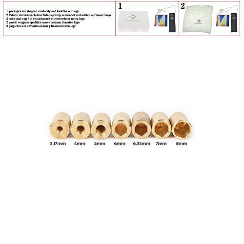 Messinghülsen B10 Spannfutter (0,6~6 mm) Kegelbohrfutter Verbindungshülse Montagestangen für 3,17 mm / 4 mm / 5 mm / 6 mm / 8 mm Motorwelle,2pcs 4mm Ärmel