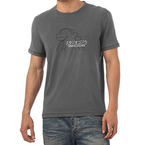 Texlab Herren Studio Gojira T-Shirt, Grau, M