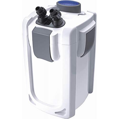 Akwado HW-703B - Filtro Exterior para Acuario (1400 L/h, 30 W, 9 W, UVC, 3 Niveles para acuarios de hasta 600 L)