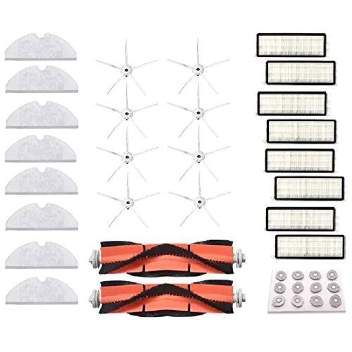 Henseek Herramientas de bricolaje Robot Aspiradora Filtro Cepillo de Limpieza Accesorios para 1S 2S Smart Sweeper para S50 S51 S55 S6 Cuidado del Piso