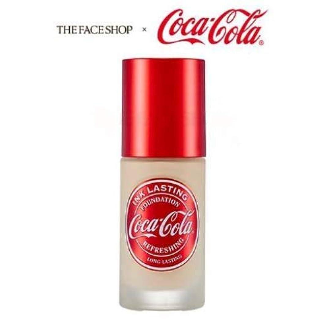 ディスパッチ予防接種帆[ザ?フェイスショップ] THE FACE SHOP [コカ?コーラ インクラスティングファンデーション - スリムフィット 30ml] (Coca Cola Ink Lasting Foundation - Slim Fit SPF30 PA++ 30ml) [海外直送品] (V201 - Apricot Beige)