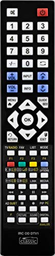 Ersatzfernbedienung speziell für TERRIS LED-TV 2423 DLZE®-Edition inkl. Batterien