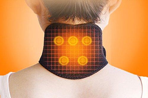 2 Pack Tourmaline Magnetic Therapy Thermal Self-Heating Neck Pad Massager Belt Neck Support Brace Massager Cervical Vertebra Protection