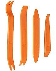 Gebildet 4 st automatisk trimborttagningsverktyg, bil innerdörr ljud radiopanel instrumentbräda stark borttagningskit, slitstark (orange)