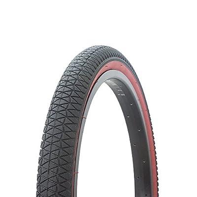 Fenix Cycles Wanda BMX Tread Bicycle Tire 20 x 1.95, for Bikes, Black/Red