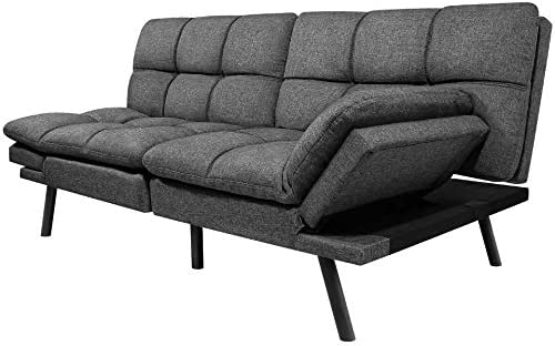 Milemont Futon Sofa Bed Modern Convertible Couch Daybed with Adjustable Armrests for Compact product image