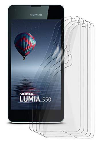 MoEx® Microsoft Lumia 550 Schutzfolie Matt Bildschirm Schutz [Anti-Reflex] Screen Protector Fingerprint Handy-Folie Matte Bildschirmschutz-Folie für Nokia Lumia 550 Bildschirmfolie, 5X Stück