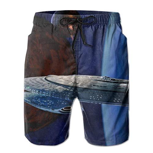 Star Trek Herren-Badehose Quick Dry Casual Beach Board Shorts Badeanzüge mit Kordelzugtaschen und Netzfutter