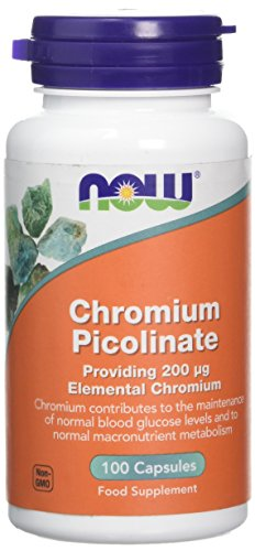 Now Foods Chromium Picolinate Capsules, Pack of 100