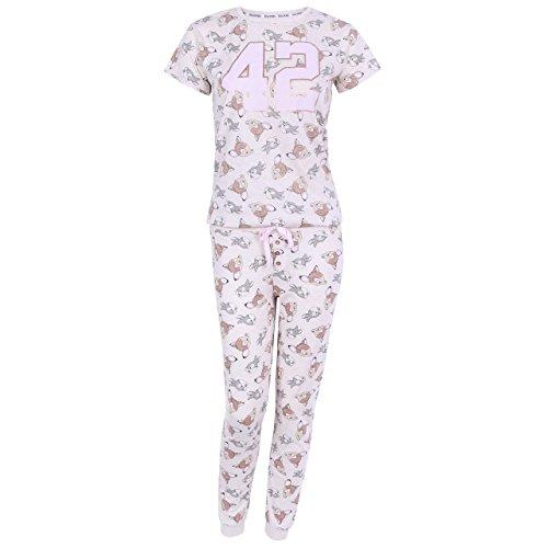 Disney -- Bambi Klopfer Damen Schlafanzug-Set Pyjama Nachtwäsche beige Geschenkbox - 36-38 / UK 10-12 / EU 38-40