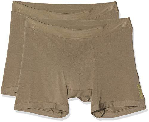 Sloggi Herren GO Allround Short Boxershorts, Beige (Havanna 3462), Medium (Herstellergröße: One) (2er Pack)