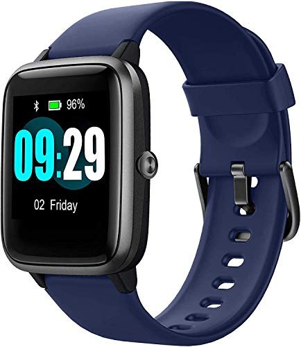 """Smart Watch for Android/Samsung/iPhone, Activity Fitness Tracker with IP68 Waterproof for Men Women & Kids, Smartwatch with 1.3"""" Full-Touch Color Screen, Heart Rate & Sleep Monitor, Blue"""