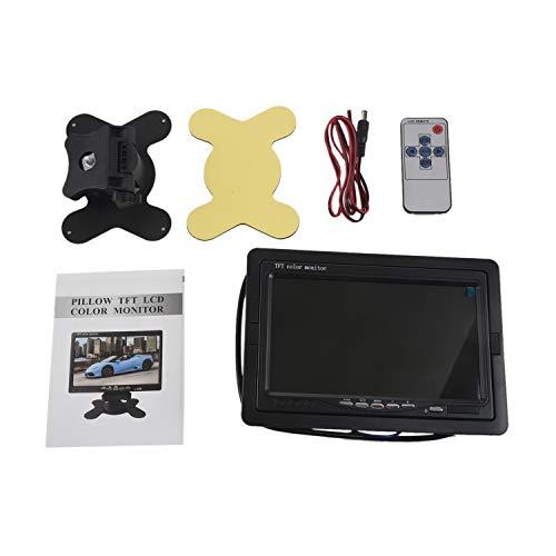 Liseng Monitor HD TFT LCD a color de 12 V - 24 V, 7 pulgadas, para coche CCTV y cámara de conducción