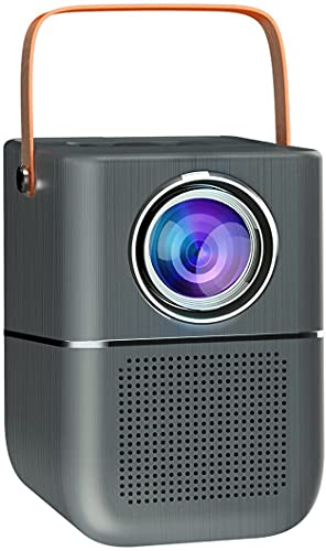 Fcoreey Outdoor Movie Projector, 1080P Supported Portable Bluetooth Projector with Screen Mirroring by Type C/ HDMI Adapter Compatible with Smartphone, TV Box, TV Stick, PS4, HDMI, AV, USB