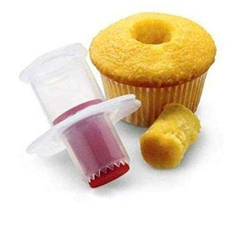 GXHUANG 2pcs Cupcake Corer Tools Muffin Cake Pastry Corer Model Plunger Cutter Decorating Plastic Cake Digging Holes Device - Cupcake Filling ToolMini Cupcake Corer - Cupcake Hole Punch -