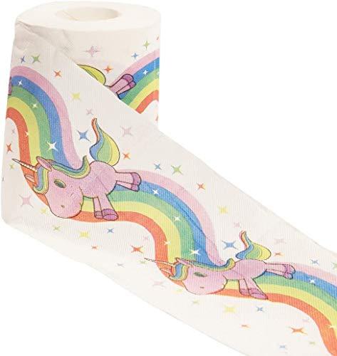 getDigital 13013 Einhorn Regenbogen Toilettenpapier in Geschenkbox | 1 Rolle mit je 200 Blatt | weich 3lagig