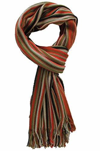 Rotfuchs Echarpe en maille Echarpe Raschelschal à la mode colorée 100% laine (Mérinos)